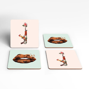 Kiss Kiss Bang Bang Coaster Set