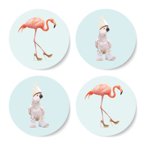 Fancy Footwear Round Coaster Set