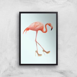 Fancy Flamingo Giclee Art Print