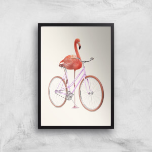 Flamingo Bike Giclee Art Print