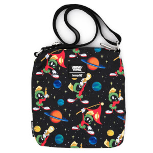 Loungefly Looney Tunes Marvin The Martian Space Aop Passport Bag