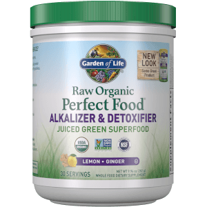 Raw Organic Perfect Food Alkalizer and Detoxifier - Lemon-Ginger - 282g