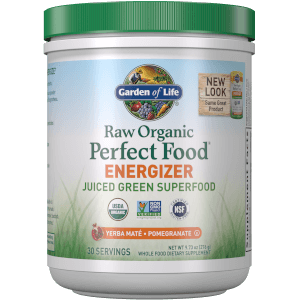 Raw Organic Perfect Food Energizer Pulver - Yerba Mate Granatapfel - 276g