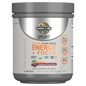 Sport Organic Plant-Based Energy - Sugar Free Blackberry Cherry - 231g