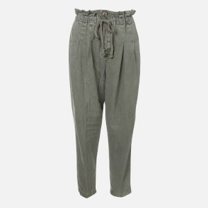 Free People Women's Margate Pleated Trousers - Moss