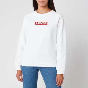 Levi's Women's Relaxed Graphic Crew Neck Sweatshirt - White