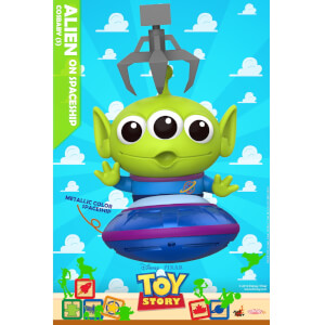 Hot Toys Toy Story Cosbaby Alien on Spaceship - Size S (Metallic Version)