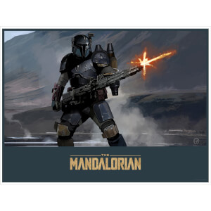 "Star Wars Mandalorian ""The Gunner"" Lithograph by Brian Matyas"