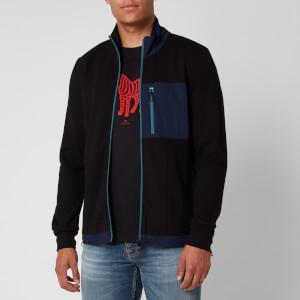 PS Paul Smith Men's Zip Funnel Neck Sweatshirt - Black