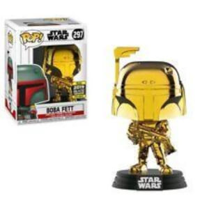 Star Wars Boba Fett Gold Chrome SW19 EXC Pop! Vinyl Figure