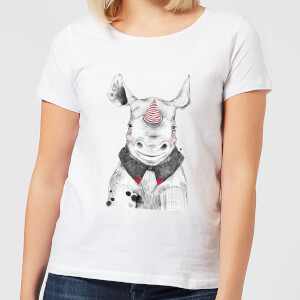 Clown Rhino Women's T-Shirt - White