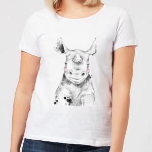 Blushed Rhino Women's T-Shirt - White