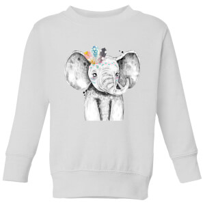 Indie Elephant Kids' Sweatshirt - White