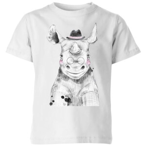 Literate Rhino Kids' T-Shirt - White