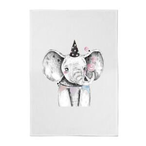 Party Elephant Cotton Tea Towel