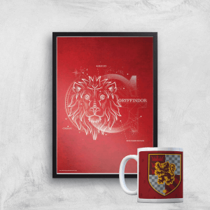 Harry Potter Gryffindor Mug & A4 Print