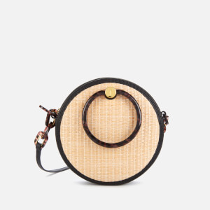 Ted Baker Women's Agneti Resin Handle Straw Circle Bag - Black