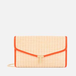 Ted Baker Women's Arthea Straw T Clutch - Neon Orange