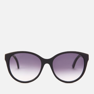 Gucci Women's Oversized Acetate Frame Sunglasses - Black/Grey