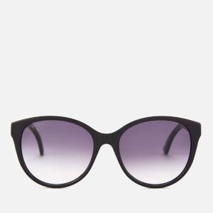 Gucci Women's Oversized Acetate Frame Sunglasses - Black/Grey