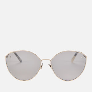 Bottega Veneta Women's Cat Eye Metal Frame Sunglasses - Silver