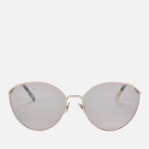 Bottega Veneta Women's Cat Eye Metal Frame Sunglasses - Silver