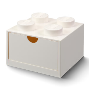 LEGO Storage Desk Drawer 4 - White