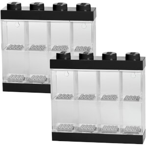 LEGO Storage Display Case Bundle (Includes 2 Black Mini Figure Cases)