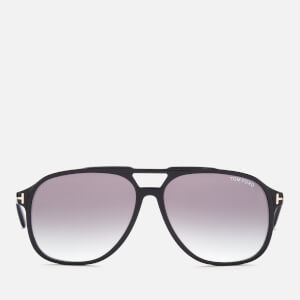 Tom Ford Men's Raoul Acetate Navigator Sunglasses - Black