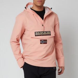 Napapijri Men's Rainforest Sum T Hooded Popover Jacket - Coral Pink