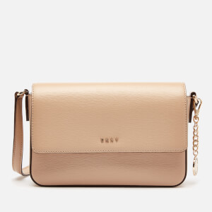 DKNY Women's Bryant Medium Flap Sutton Cross Body Bag - Sand