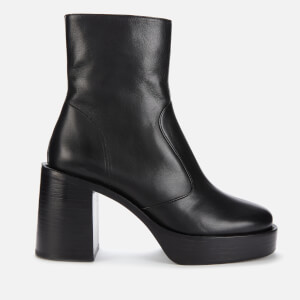 Simon Miller Women's Low Raid Leather Platform Boots - Black