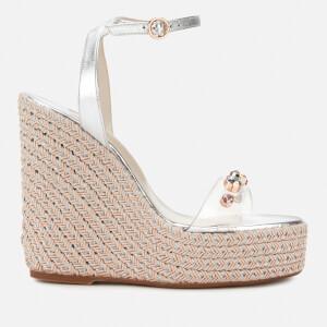 Sophia Webster Women's Dina Gem Espadrille Heeled Sandals - Silver/Crystal
