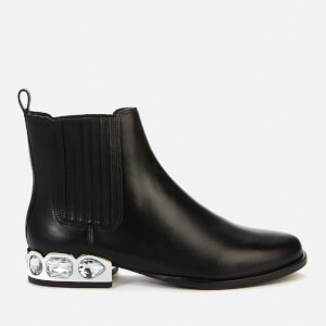 Sophia Webster Women's Bessie Crystal Leather Chelsea Boots - Black/Silver