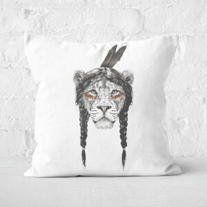 Warrior Lion Cushion Square Cushion