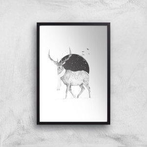 Winter Is All Around Black & White Print Giclee Art Print