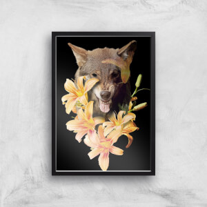 Wolfish Flowers Giclee Art Print