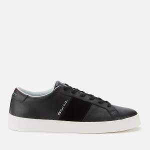PS Paul Smith Men's Lowe Leather Low Top Trainers - Black