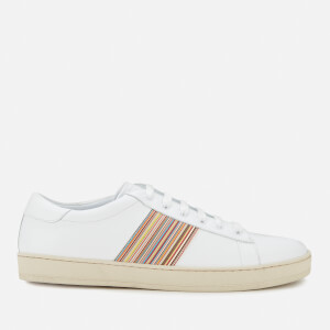 Paul Smith Men's Hassler Leather Cupsole Trainers - White/Multistripe Tape