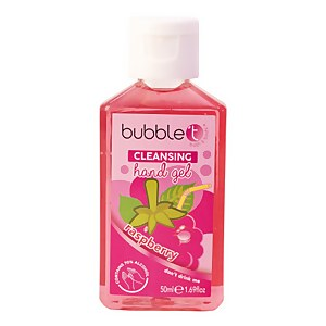 Bubble T Hand Cleansing Gel - Raspberry 50ml
