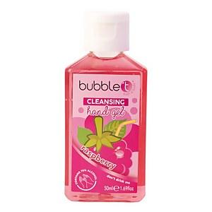 Bubble T Hand Cleansing Gel - Raspberry 50ml
