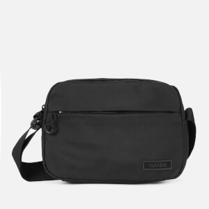 Ganni Women's Recycled Tech Fabric Cross Body Bag - Black