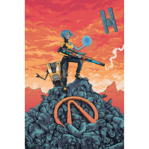"Póster Art Giclée Borderlands ""Maya"" - Exclusivo Zavvi"