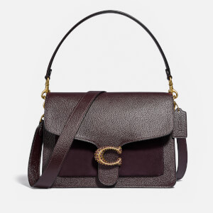 Coach Women's Mix Leather Tabby - Oxblood