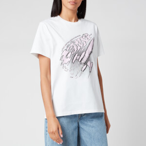 Ganni Women's Basic Cotton T-Shirt - Bright White