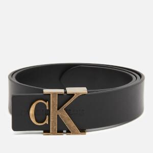 Calvin Klein Jeans Women's Leather Logo Belt - Black