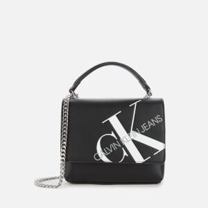 Calvin Klein Jeans Women's Square Flap Cross Body Bag - Black