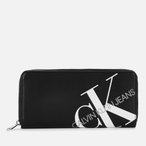 Calvin Klein Jeans Women's Logo Zip Around Wallet - Black