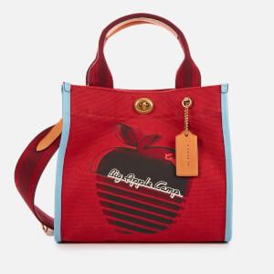 Coach 1941 Women's Retro Big Apple Camp Canvas Tote Bag 22 - Red Apple