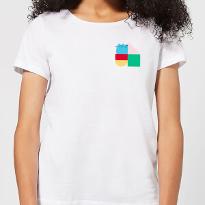 Pusheen Square Blocks Women's T-Shirt - White